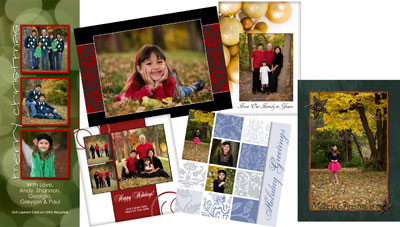 holiday card photoshop templates for photographers