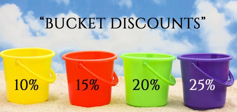Bucket discounts