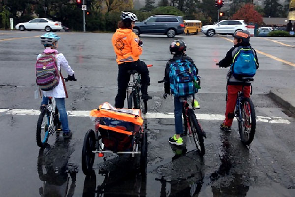 Rain or shine the Tiburon Bike Train rolls