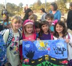 Strawberry Students on International Walk to School Day