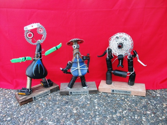 bike part sculptures