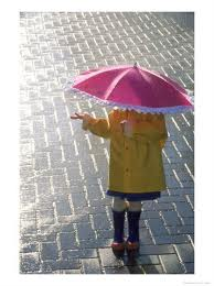 child and umbrella