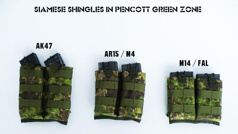 39214a7b74887 The Siamese Shingle mag pouch from DropZone Tactical is now available in  GreenZone™ and BadLands™.