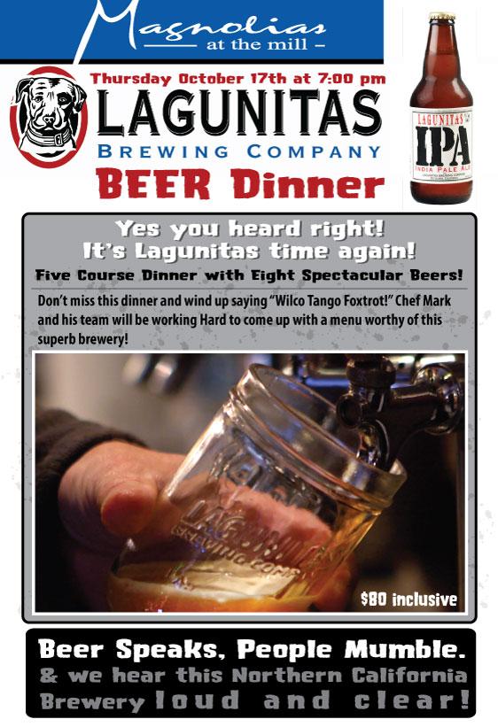 Lagunitas Beer Dinner at Magnolias