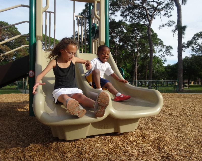Gillespie Park Playground Opening 4-3-14