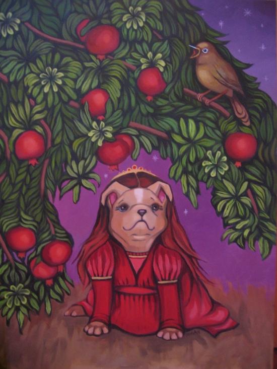 Pictured: Artist Emily Hogan's Juliet-Shakespeare-Dawg