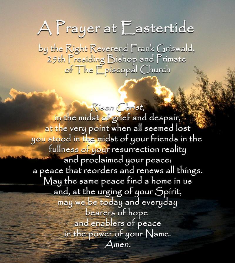 Easter prayer 2012