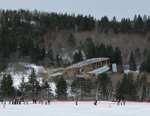 Aircraft -                                                     Silver Dart over                                                     Baddeck Feb 22 2009