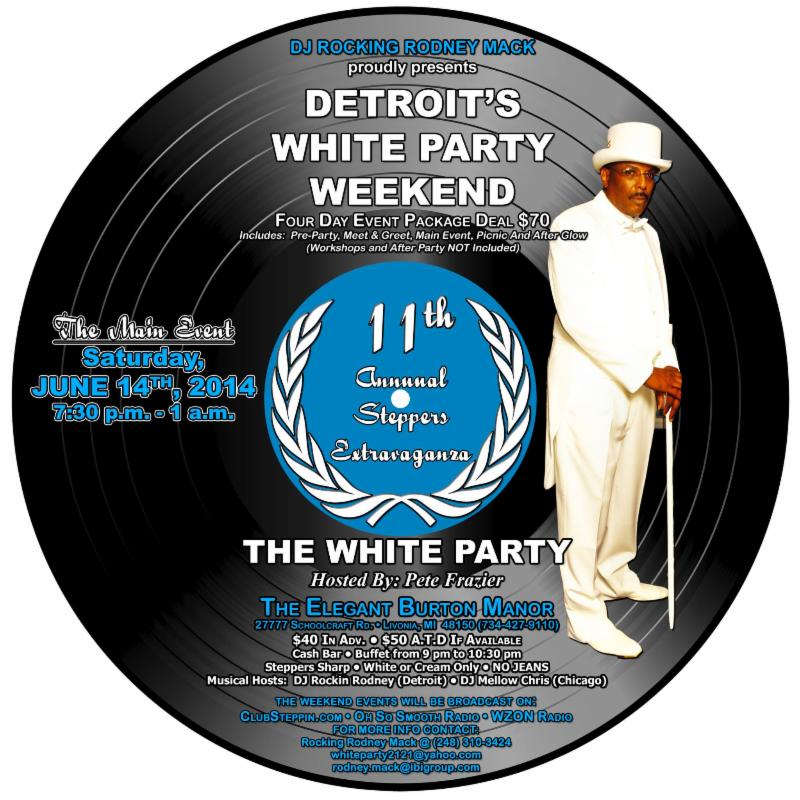 2014 Detroit's 11th Annual White Party Flyer