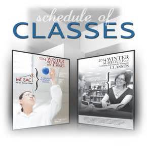 2014 Winter class Schedule