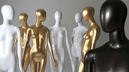 Custom featureless head Schlappi mannequins
