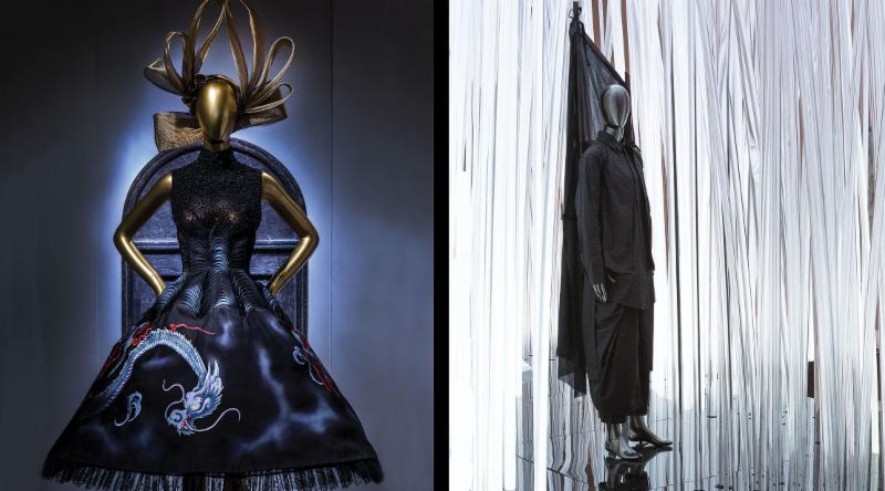 (Left) haute couture from the House of Givenchy(Right) Craig Green ensemble