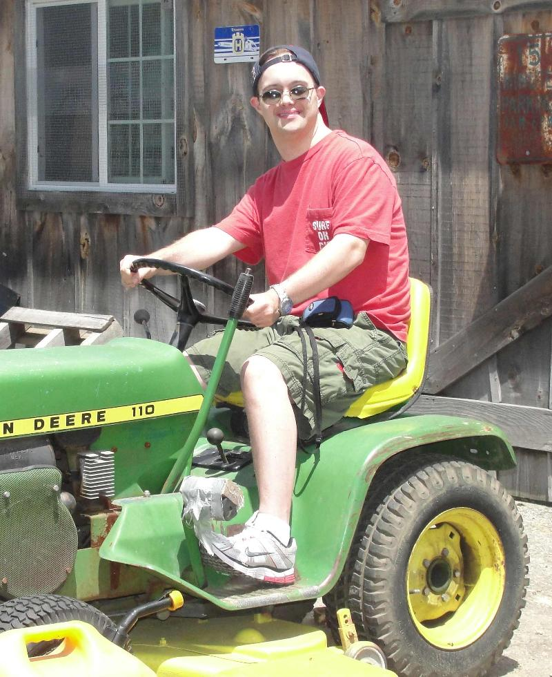 Bob on Tractor