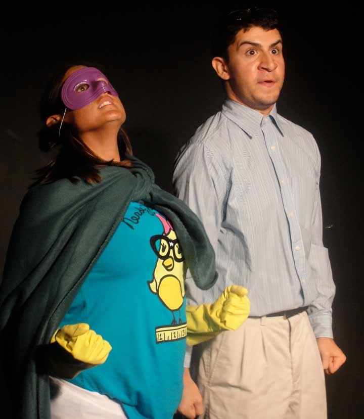 Cherylee and Alex in Superhero