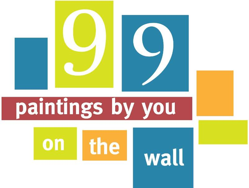 99 paintings by you on the wall