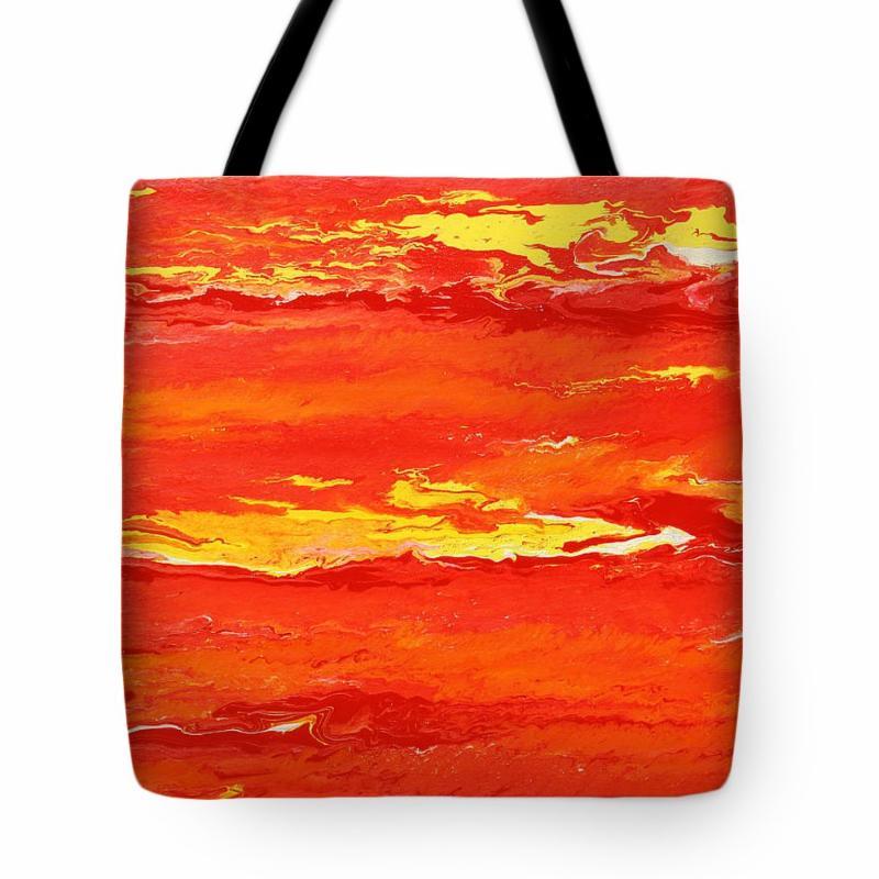 Burning Sky tote bag