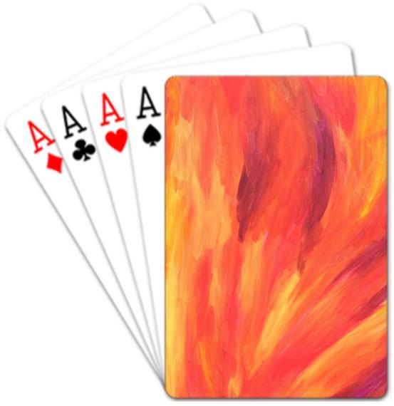 Flame playing cards