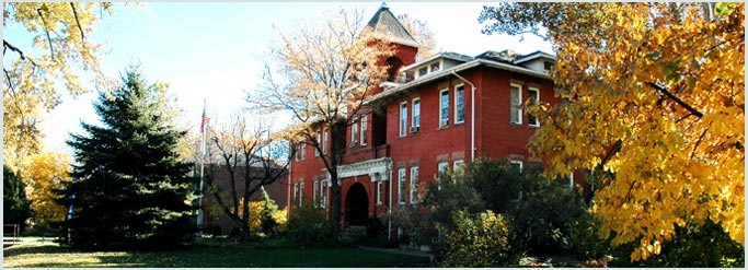 Lincoln Building at Naropa University in autumn