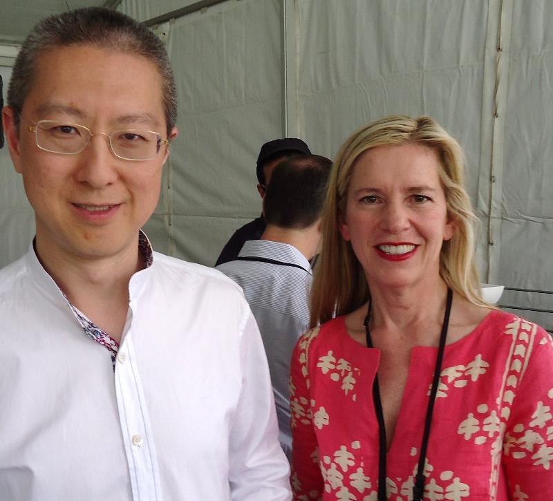 Victor Koo with Silicon Dragon