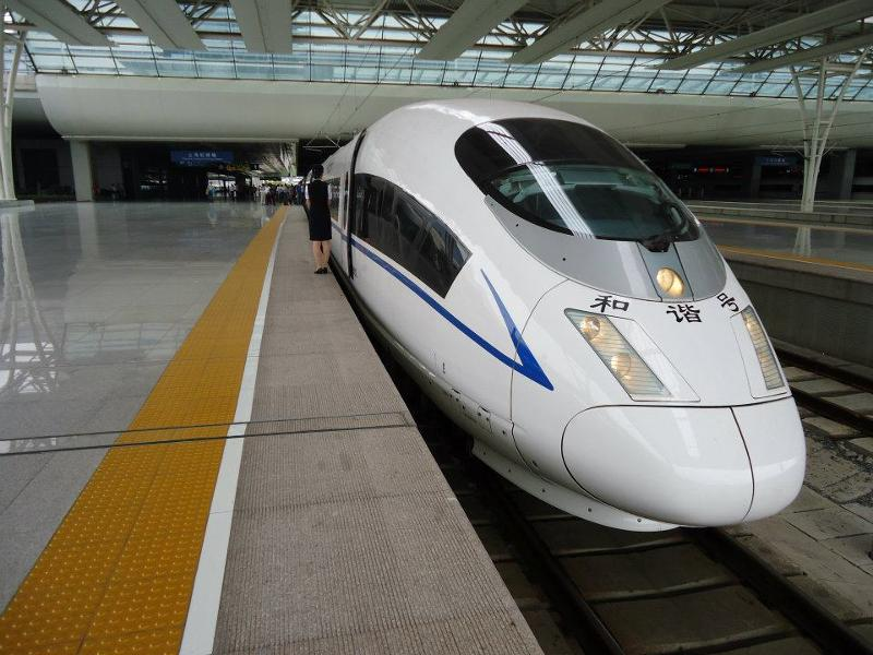 high-speed train in China