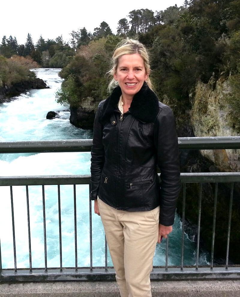 Rebecca at Huka Falls