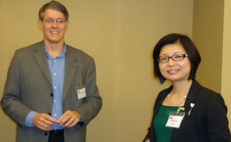 Steve Mushero with KPMG partner Linda Lin