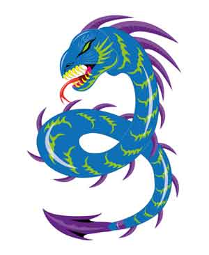 zodiac snake-like dragon