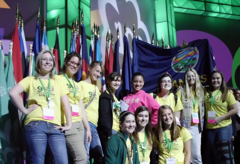KS Girl Scouts at National Convention 2011