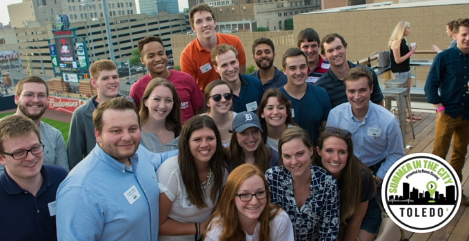 Summer in the City Interns at the Mud Hens Game