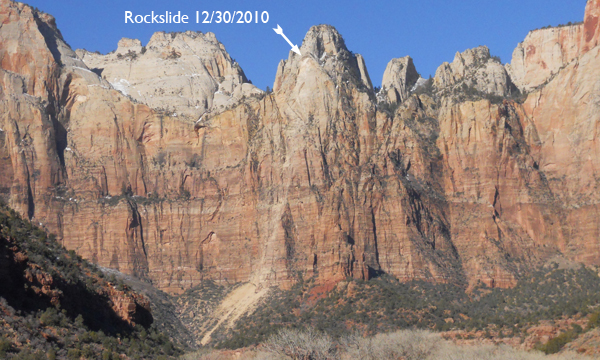 Rockslide-Zion National Park Temples and Towers of the Virgin