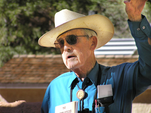 J. L. Crawford speaking in Zion National Park