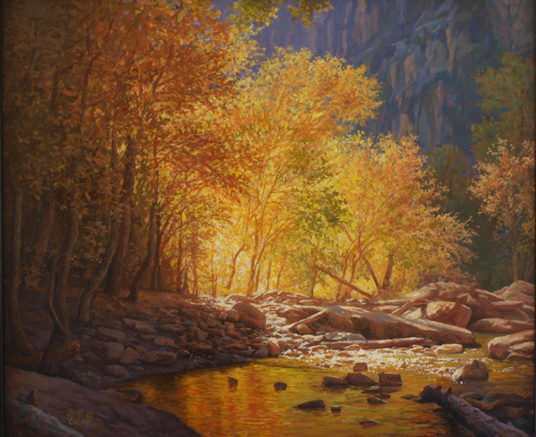 Painting of Zion National Park by John Cogan