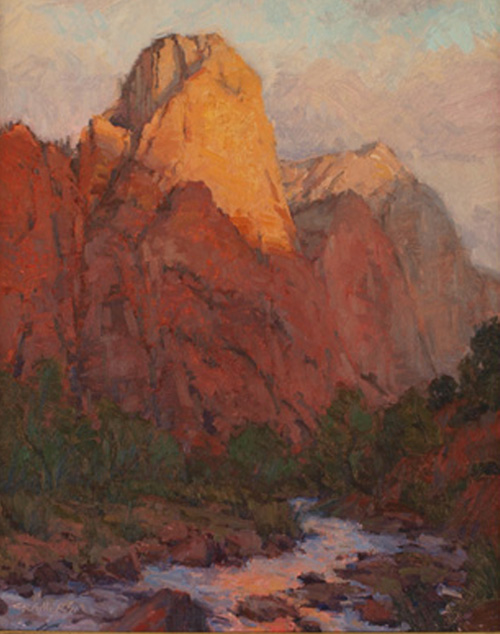 Painting of Zion National Park by Bill Cramer