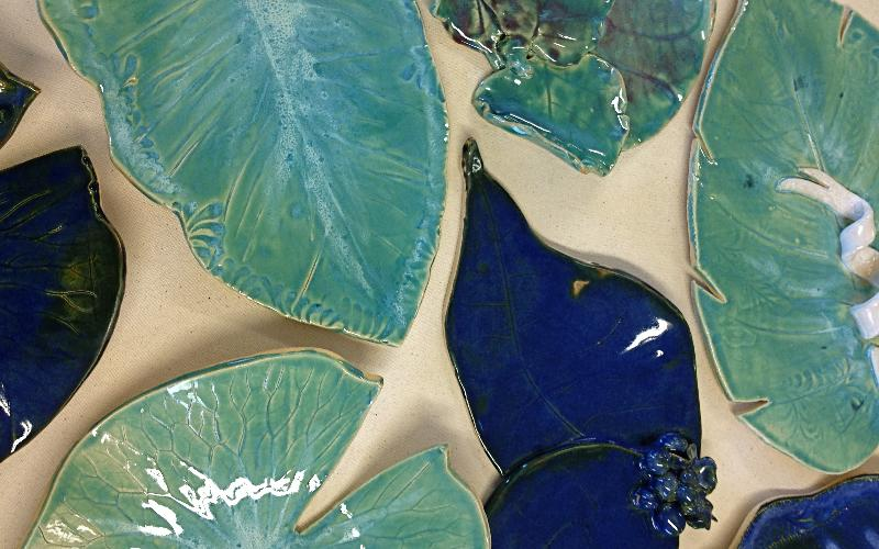 These are Leaf Platters from a special workshop. Each piece is more beautiful than you can imagine!!