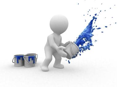blue paint web redesign