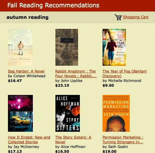 amazon fall reading