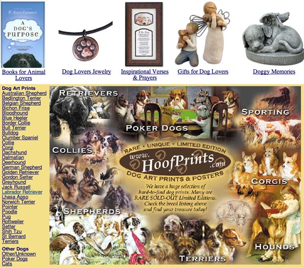 Dog category page