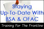 BSA-OFAC Training Webinar 2012