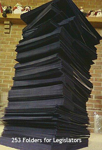 Folders for PA Legislators.