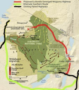 Serengeti Highway map