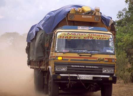Merry Christmas Africa Truck