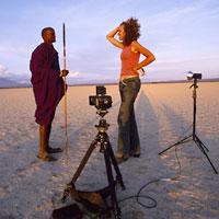 Nichole Directing a shoot in Tanzania