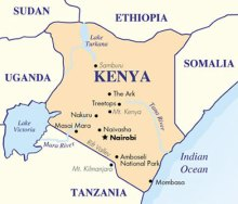 Map of Kenya and Bordering Countries