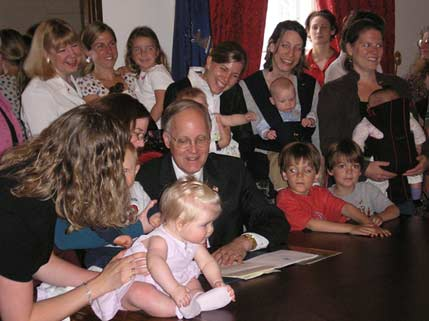 Nursing Mother Bill Signing