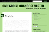 Social Change Semester Blog