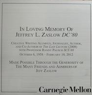 Zaslow Plaque