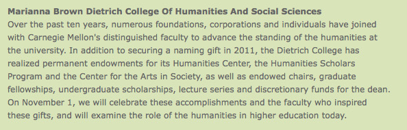 Dietrich College of Humanities and Social Sciences