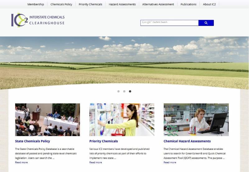 IC2 website homepage