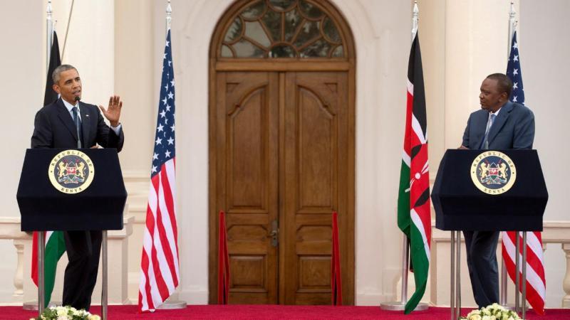 US President Barack Obama and Kenya's President Uhuru Kenyatta
