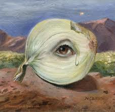 peeling an onion tears